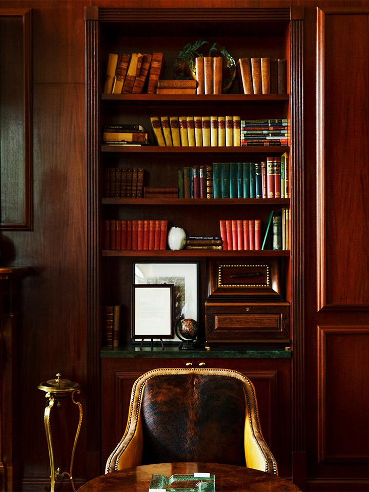 interior of a study
