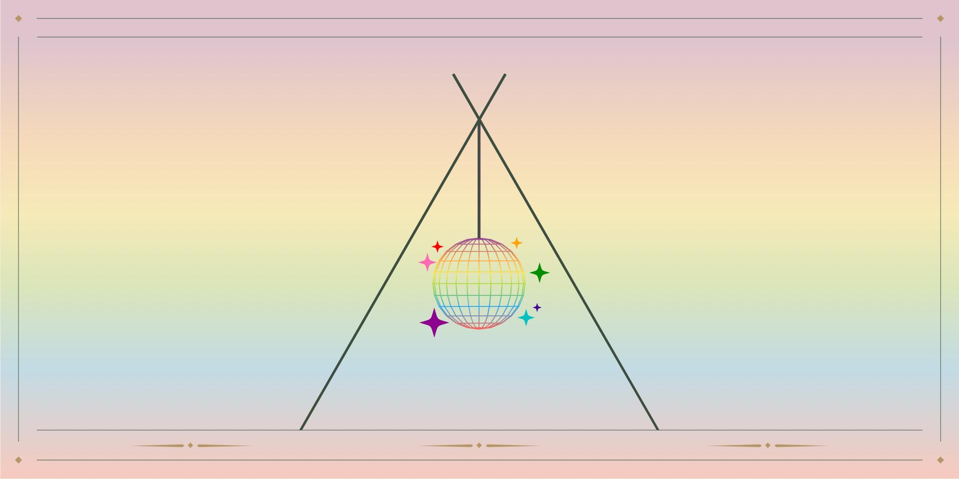 Disco ball tent