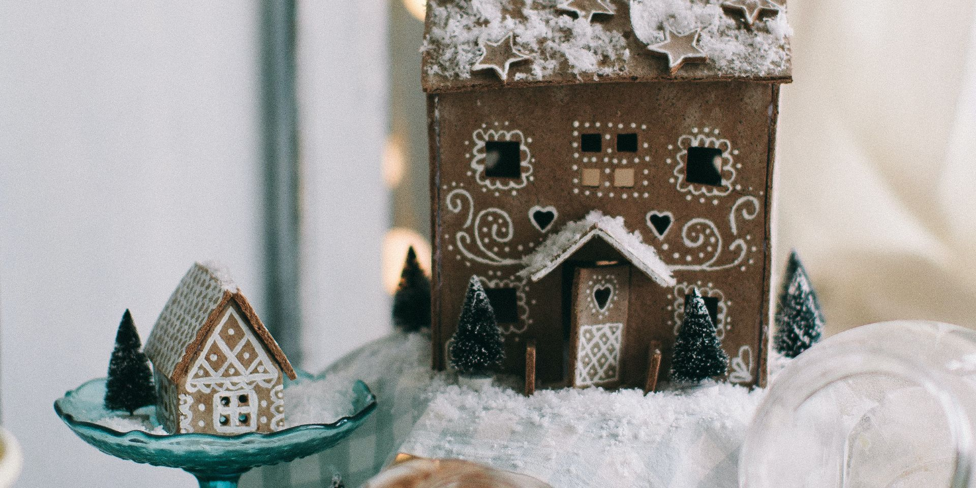Gingerbread house with decorations