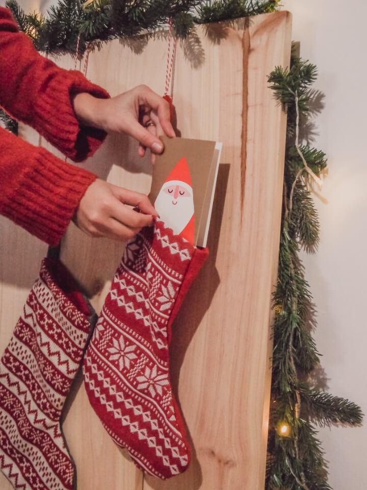 Hanging a stocking